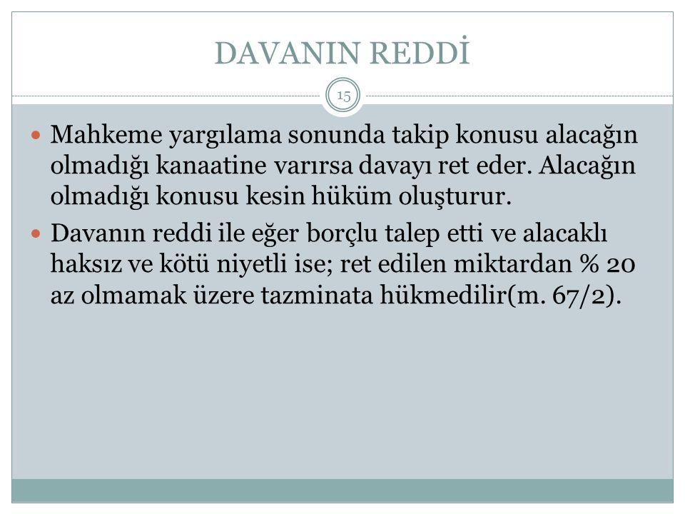 DAVANIN REDDİ