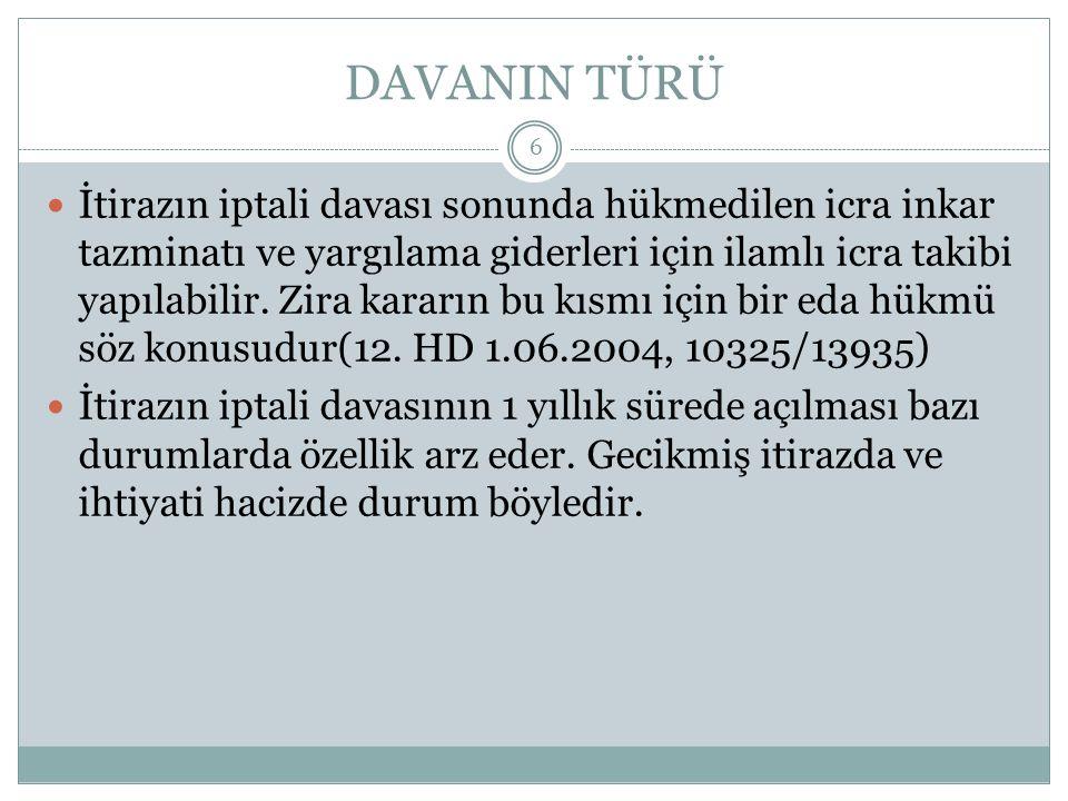 DAVANIN TÜRÜ
