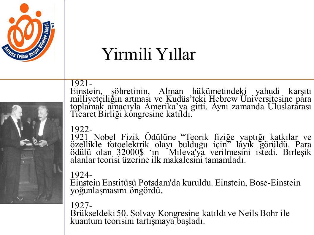 Yirmili Yıllar 1921-