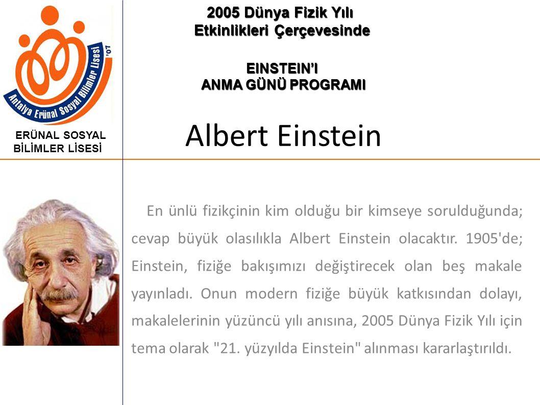 2005 Dünya Fizik Yılı Etkinlikleri Çerçevesinde