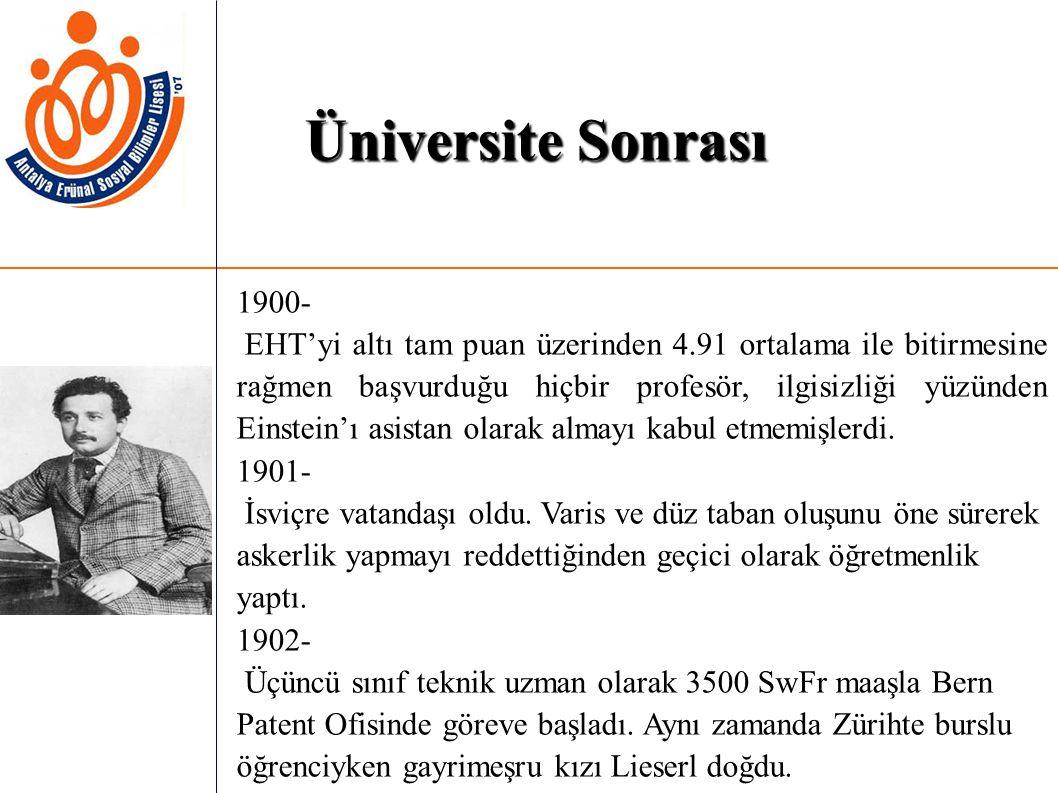 Üniversite Sonrası 1900-