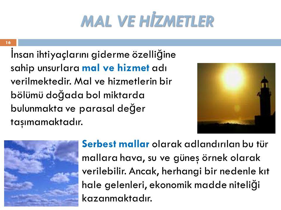 MAL VE HİZMETLER