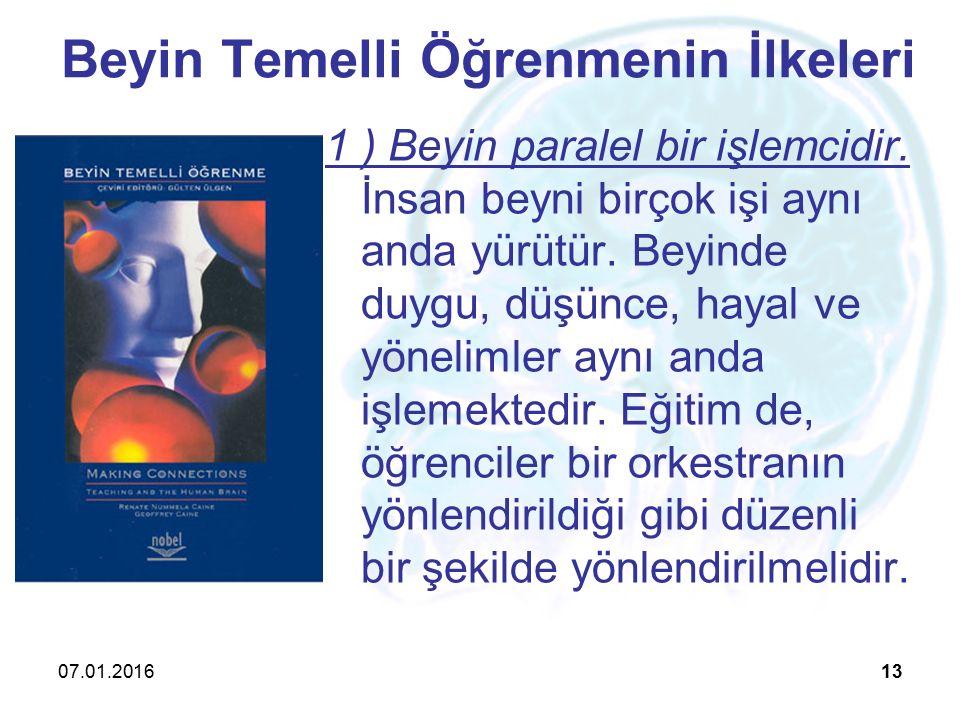 Beyin Temelli Öğrenmenin İlkeleri