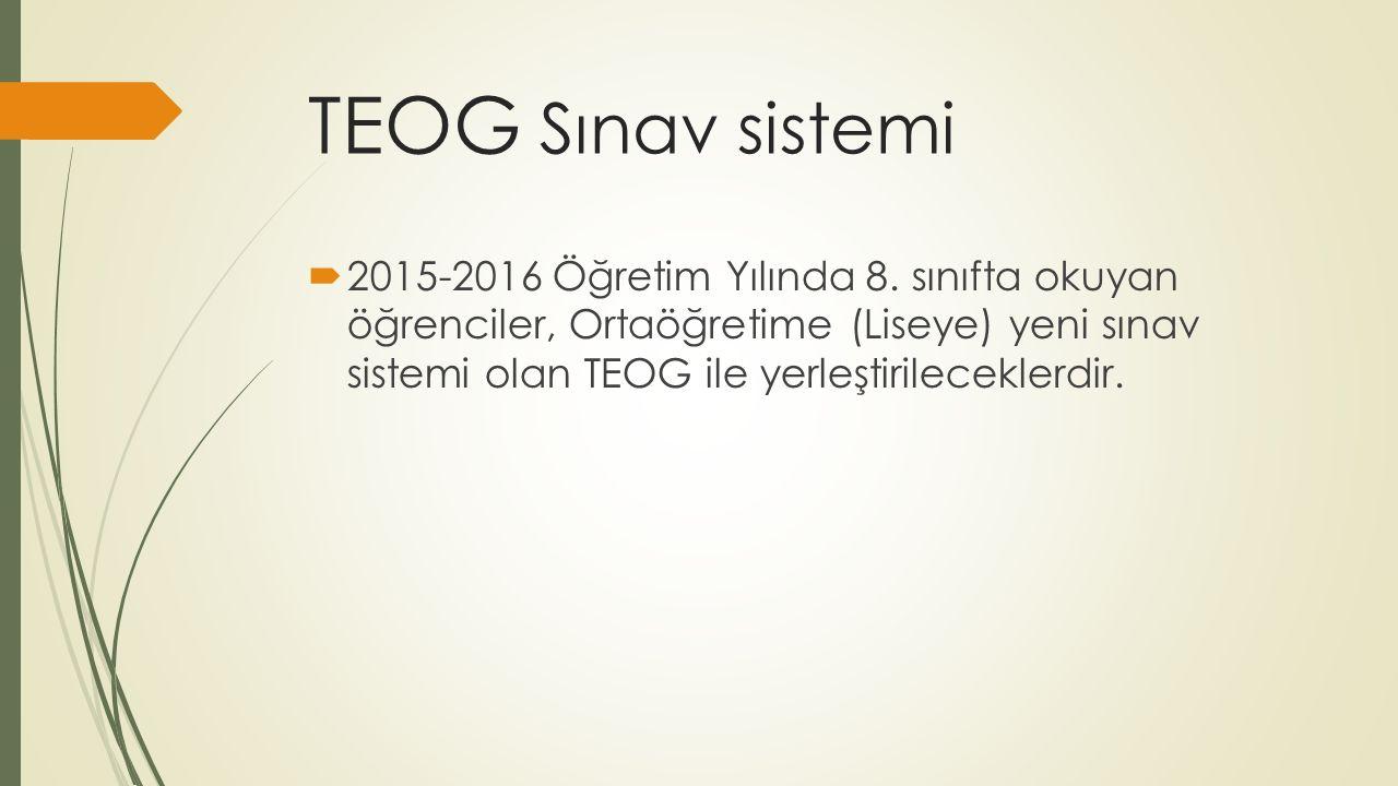 TEOG Sınav sistemi