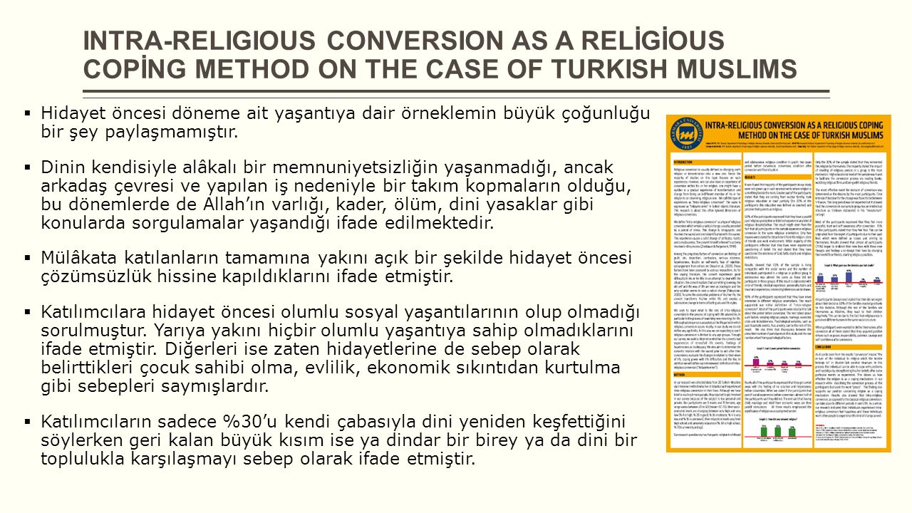 INTRA-RELIGIOUS CONVERSION AS A RELİGİOUS COPİNG METHOD ON THE CASE OF TURKISH MUSLIMS