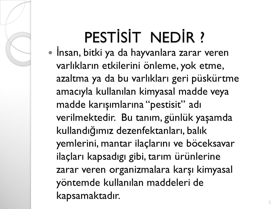 PESTİSİT NEDİR