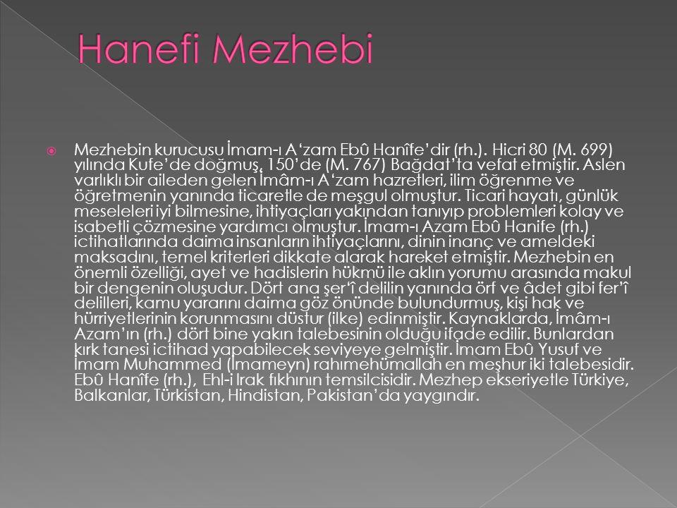 Hanefi Mezhebi
