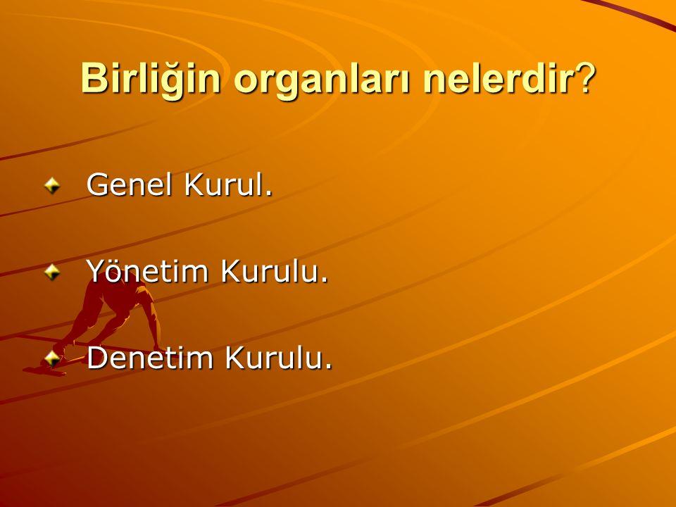 Birliğin organları nelerdir