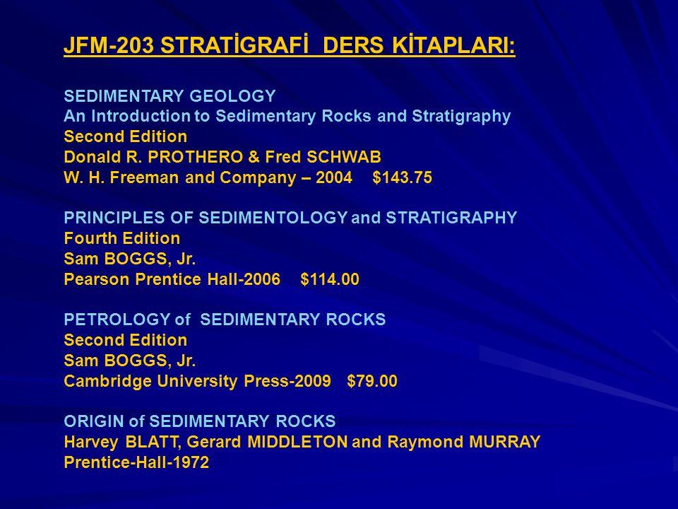 JFM-203 STRATİGRAFİ DERS KİTAPLARI: