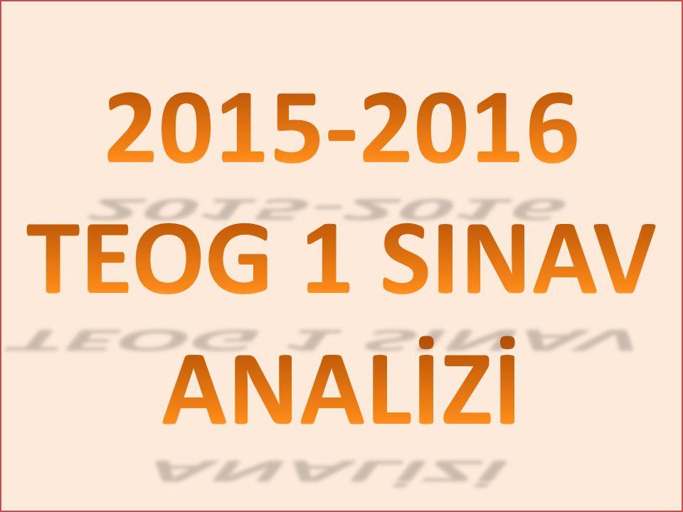 2015-2016 TEOG 1 SINAV ANALİZİ
