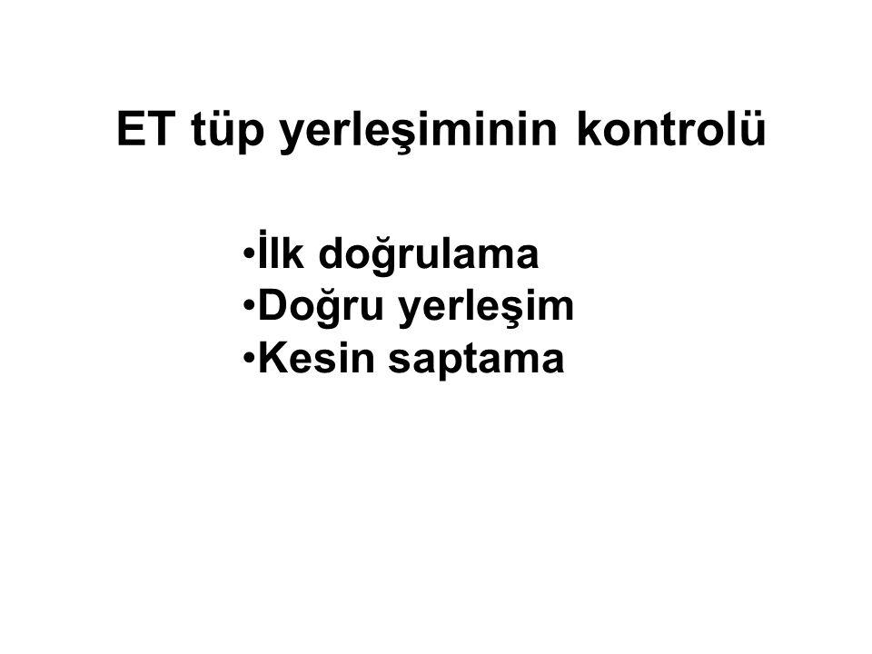 ET tüp yerleşiminin kontrolü