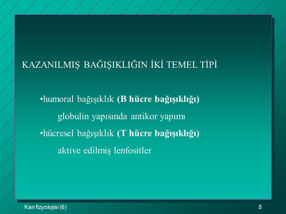 KAZANILMIŞ BAĞIŞIKLIĞIN İKİ TEMEL TİPİ