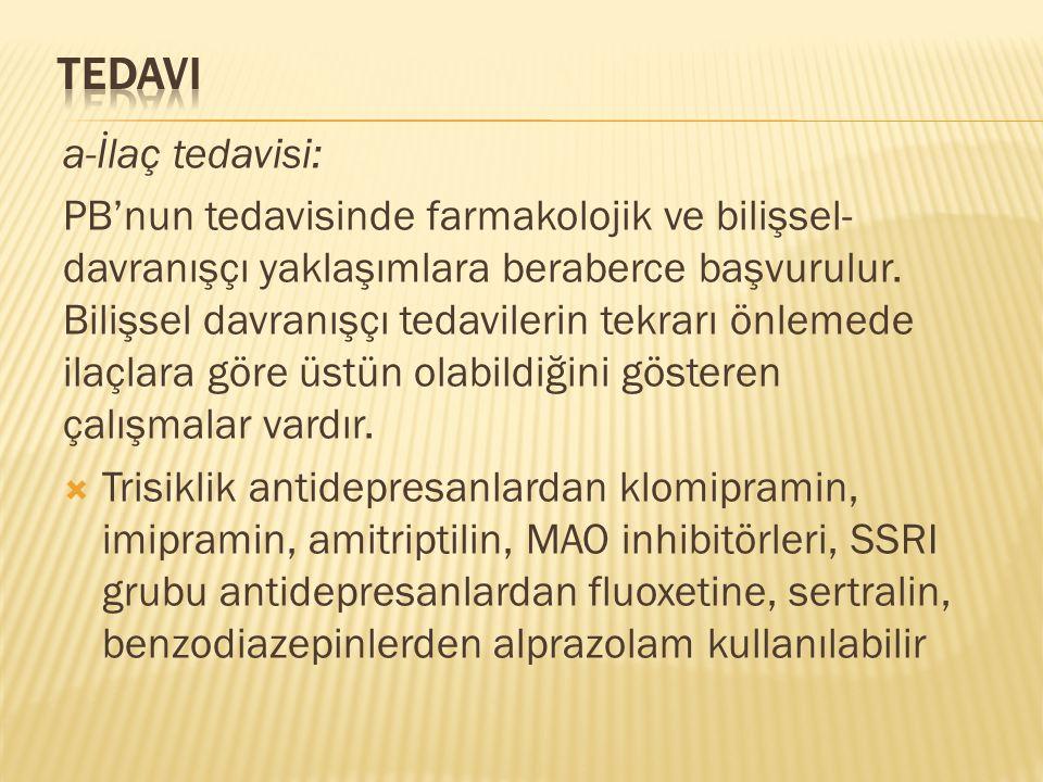 Tedavi a-İlaç tedavisi: