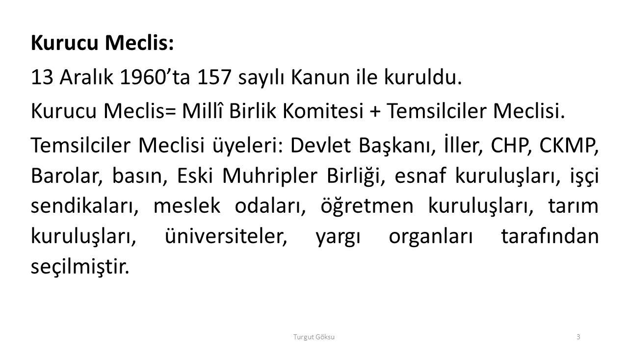 13 Aralık 1960'ta 157 sayılı Kanun ile kuruldu.