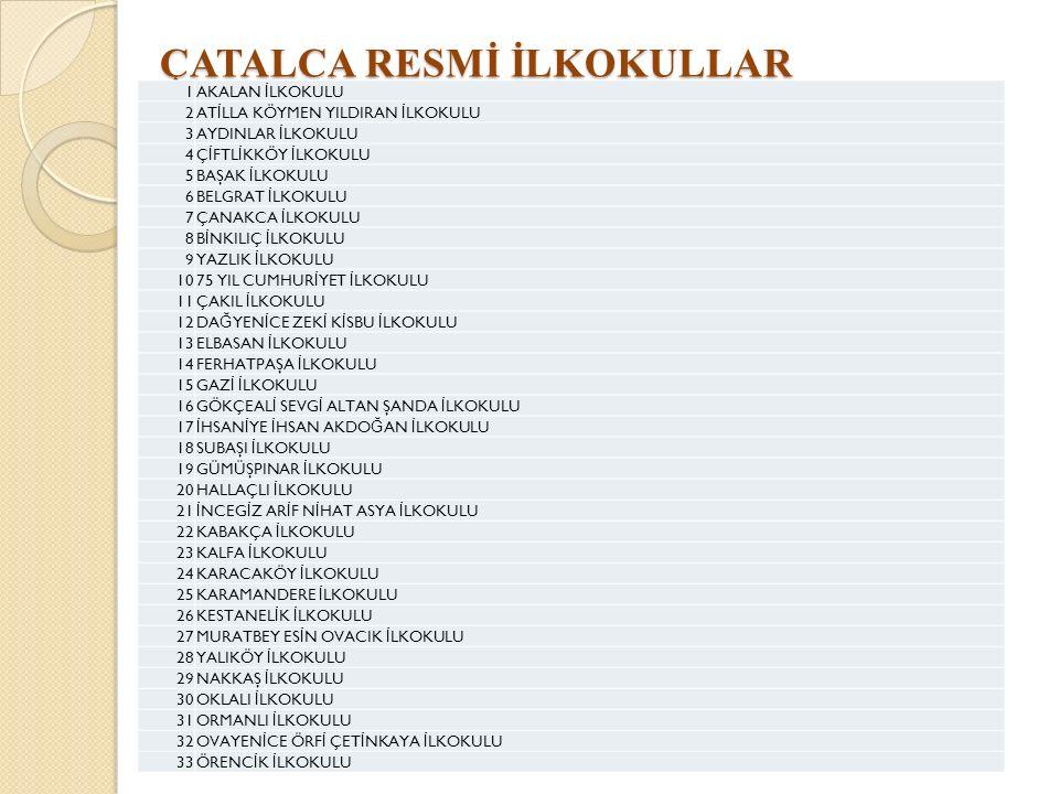 ÇATALCA RESMİ İLKOKULLAR