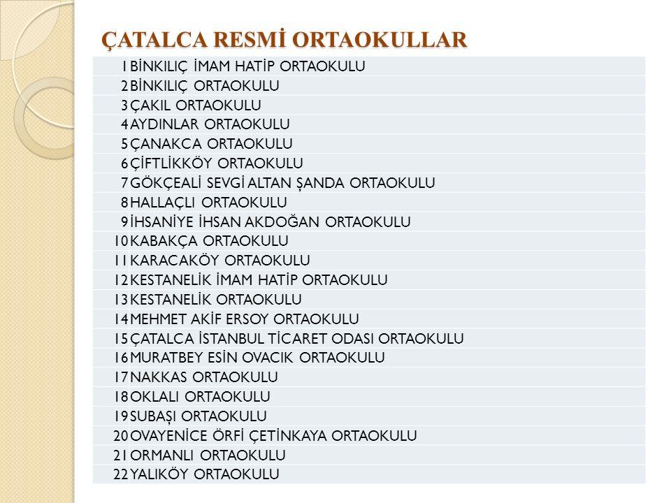 ÇATALCA RESMİ ORTAOKULLAR