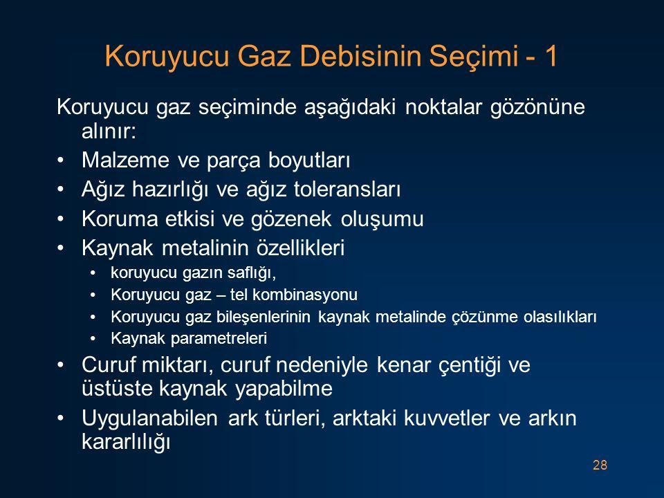 Koruyucu Gaz Debisinin Seçimi - 1