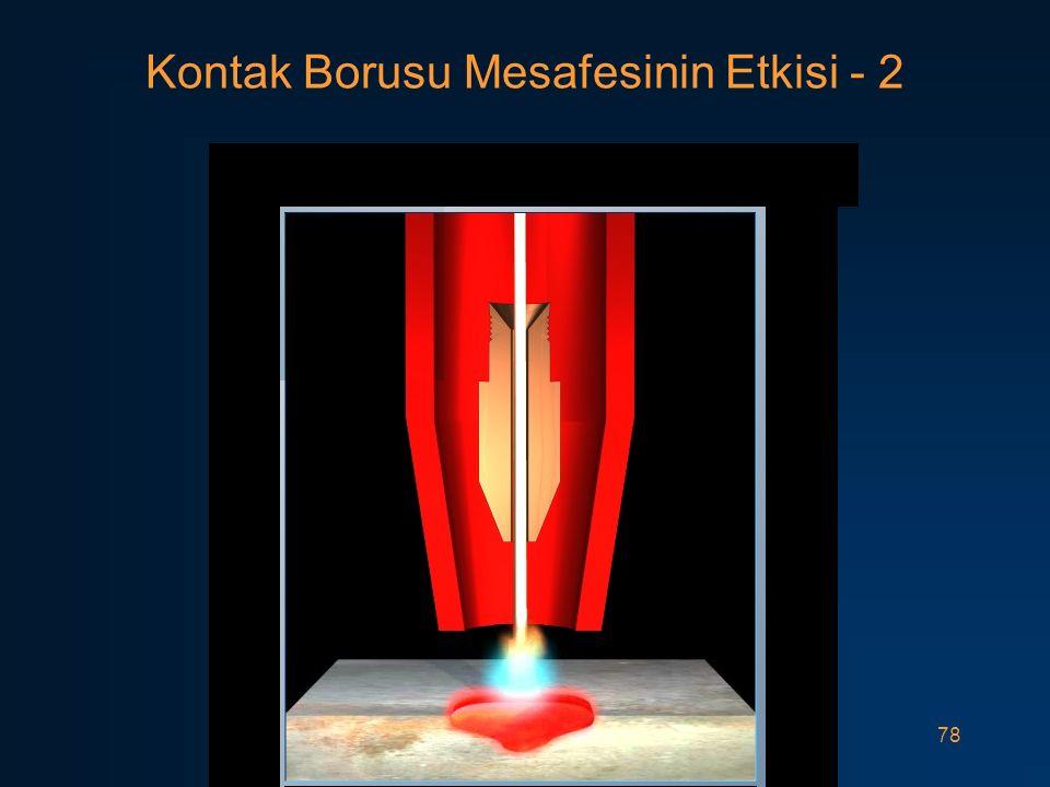 Kontak Borusu Mesafesinin Etkisi - 2