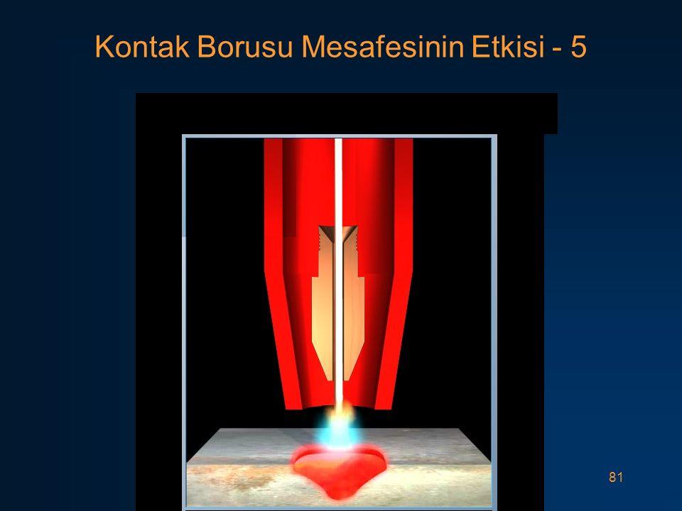 Kontak Borusu Mesafesinin Etkisi - 5