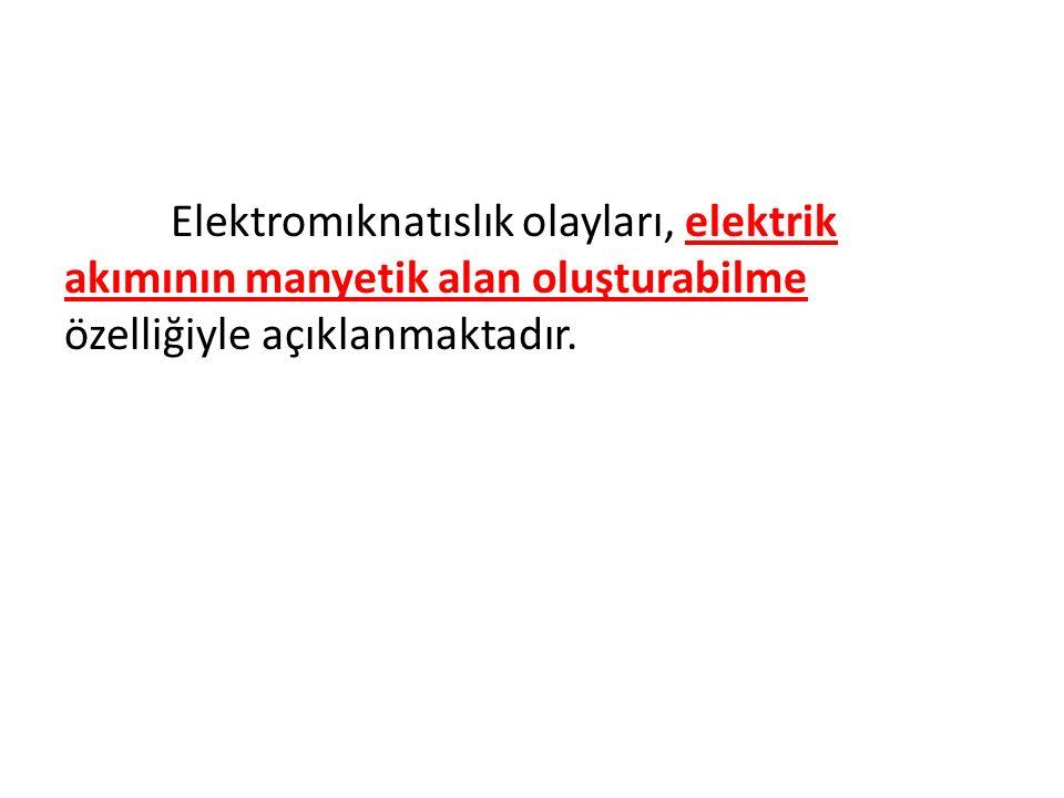 Elektromıknatıslık olayları, elektrik akımının manyetik alan oluşturabilme özelliğiyle açıklanmaktadır.