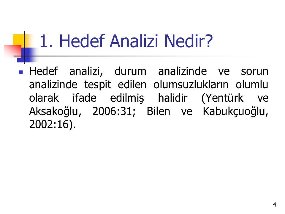 1. Hedef Analizi Nedir