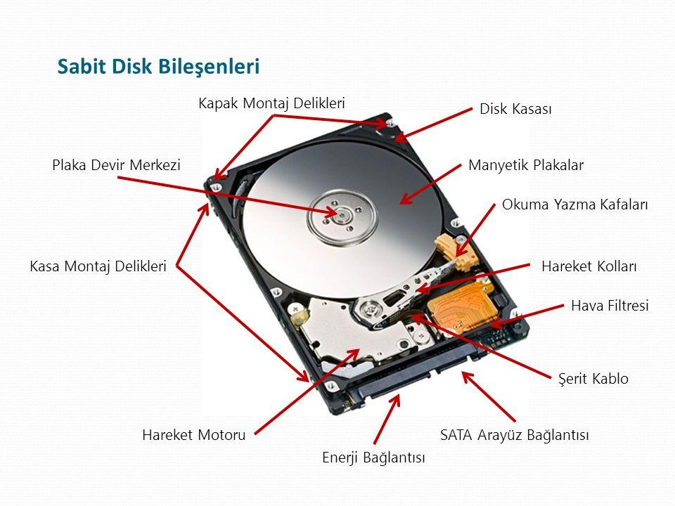 Sabit Disk Bileşenleri