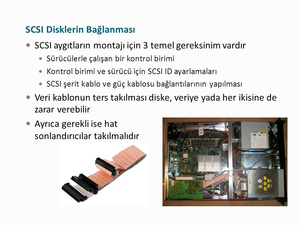 SCSI Disklerin Bağlanması