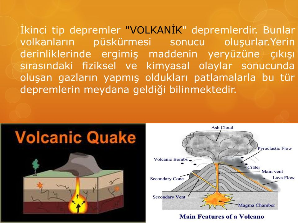 İkinci tip depremler VOLKANİK depremlerdir
