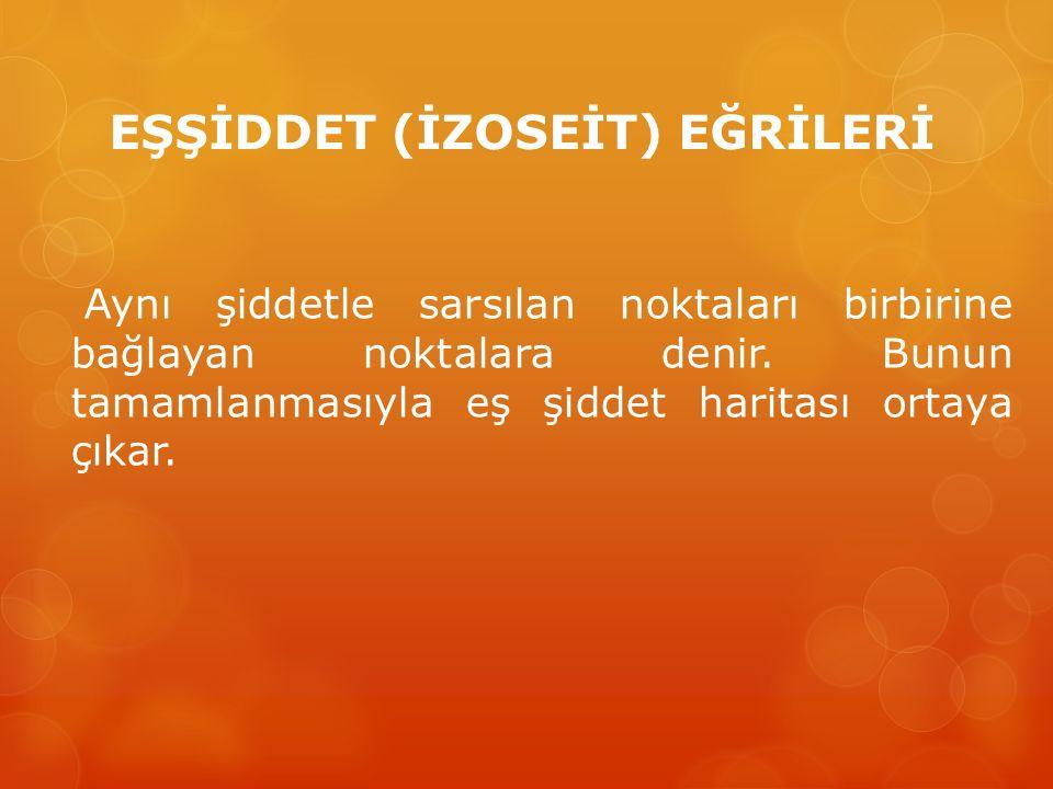 EŞŞİDDET (İZOSEİT) EĞRİLERİ