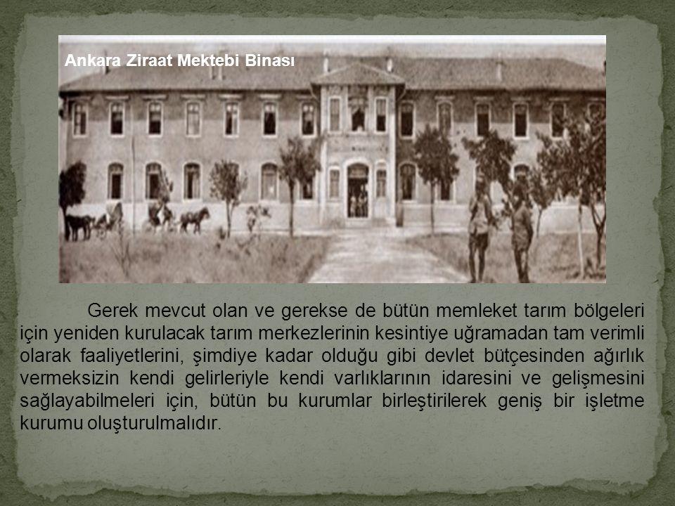 Ankara Ziraat Mektebi Binası
