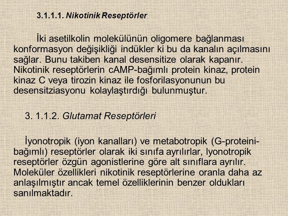 3.1.1.1. Nikotinik Reseptörler