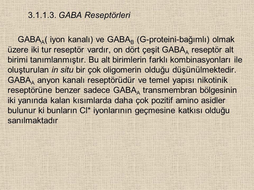 3.1.1.3. GABA Reseptörleri