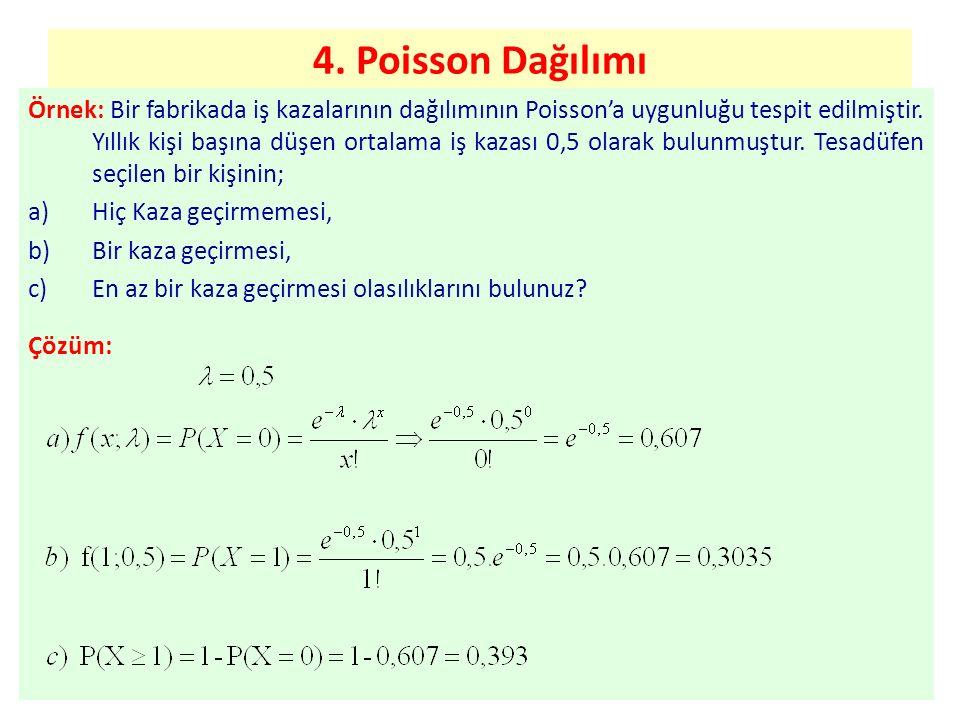 4. Poisson Dağılımı