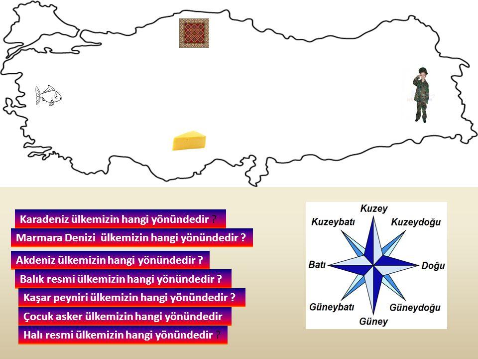 Karadeniz ülkemizin hangi yönündedir