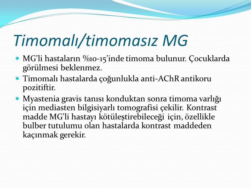 Timomalı/timomasız MG