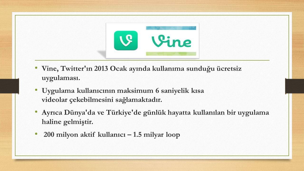 Vine, Twitter ın 2013 Ocak ayında kullanıma sunduğu ücretsiz uygulaması.