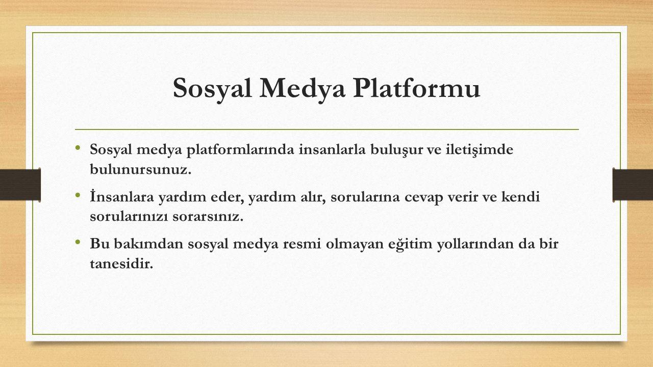 Sosyal Medya Platformu
