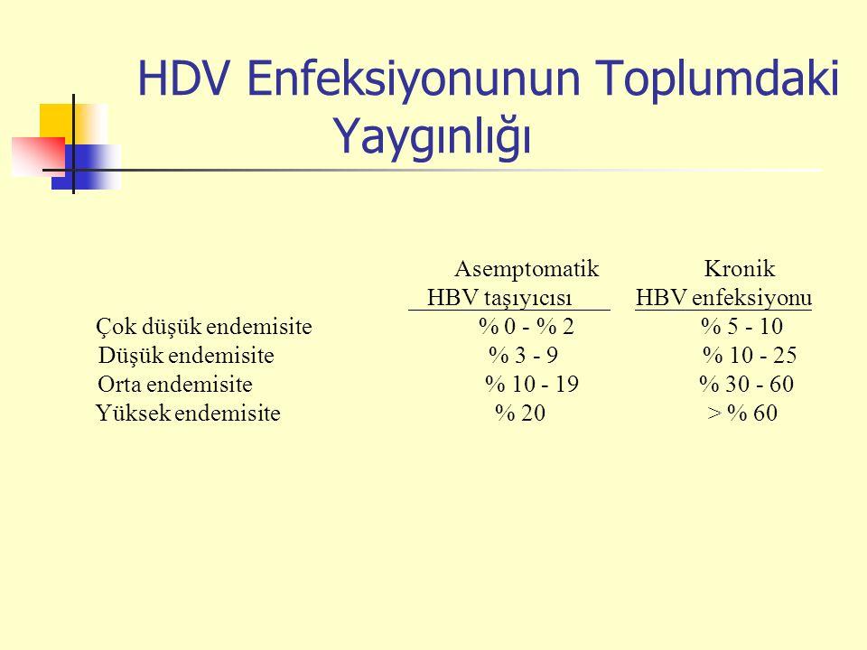 HDV Enfeksiyonunun Toplumdaki Yaygınlığı