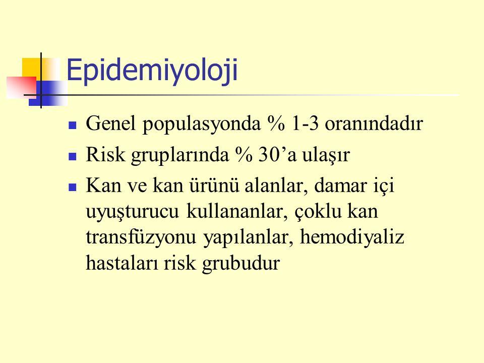 Epidemiyoloji Genel populasyonda % 1-3 oranındadır