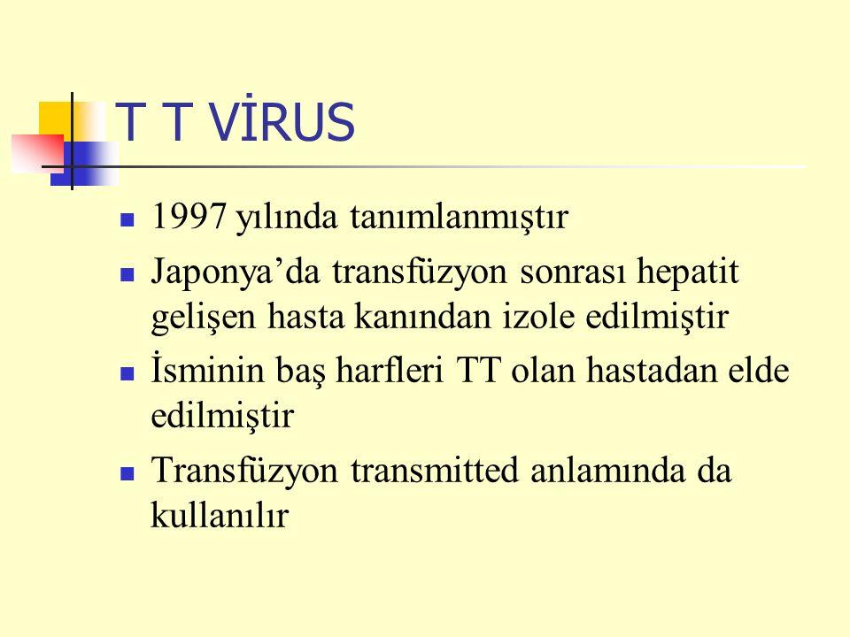 T T VİRUS 1997 yılında tanımlanmıştır