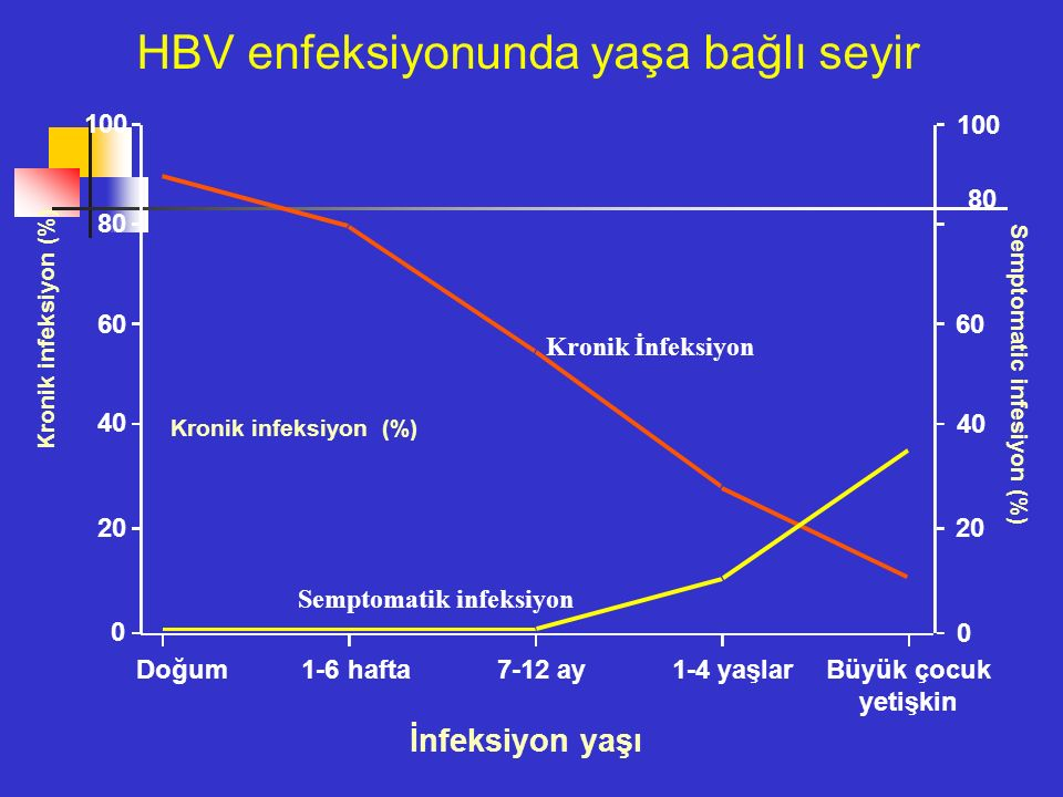HBV enfeksiyonunda yaşa bağlı seyir