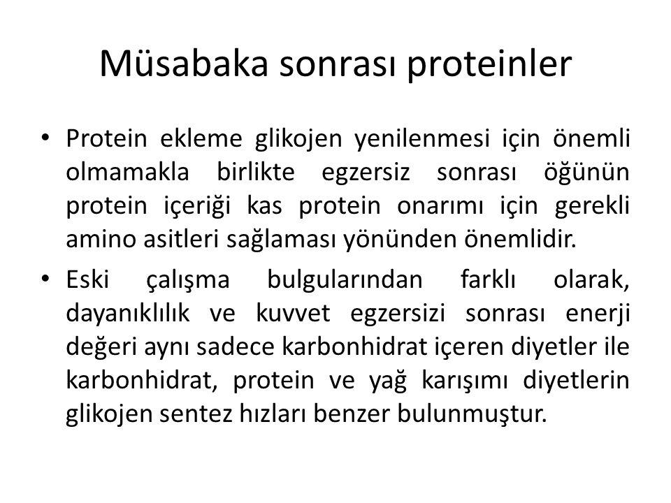 Müsabaka sonrası proteinler
