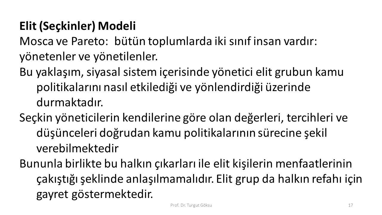 Elit (Seçkinler) Modeli