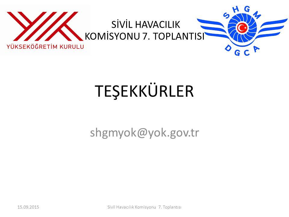 Sivil Havacılık Komisyonu 7. Toplantısı