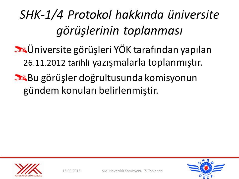 SHK-1/4 Protokol hakkında üniversite görüşlerinin toplanması