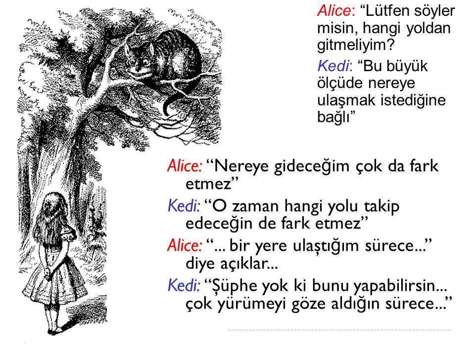 Alice: Nereye gideceğim çok da fark etmez