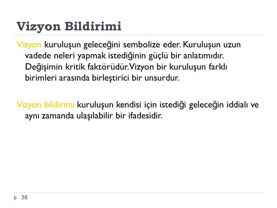 Vizyon Bildirimi