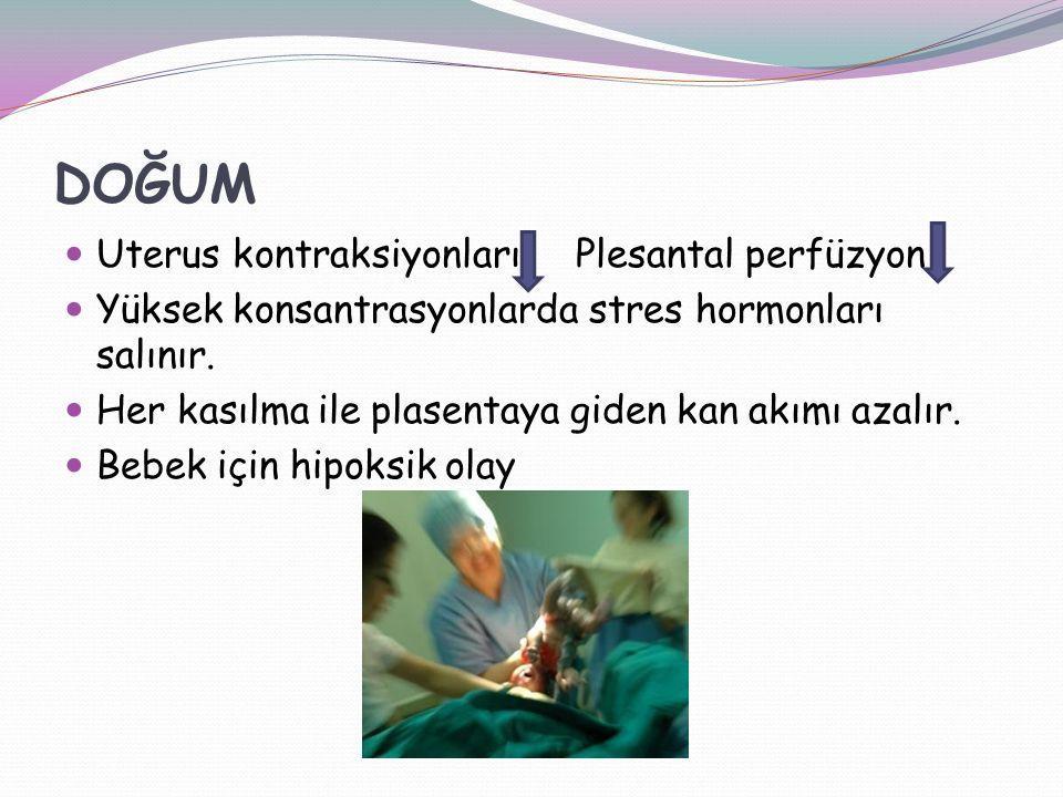 DOĞUM Uterus kontraksiyonları Plesantal perfüzyon