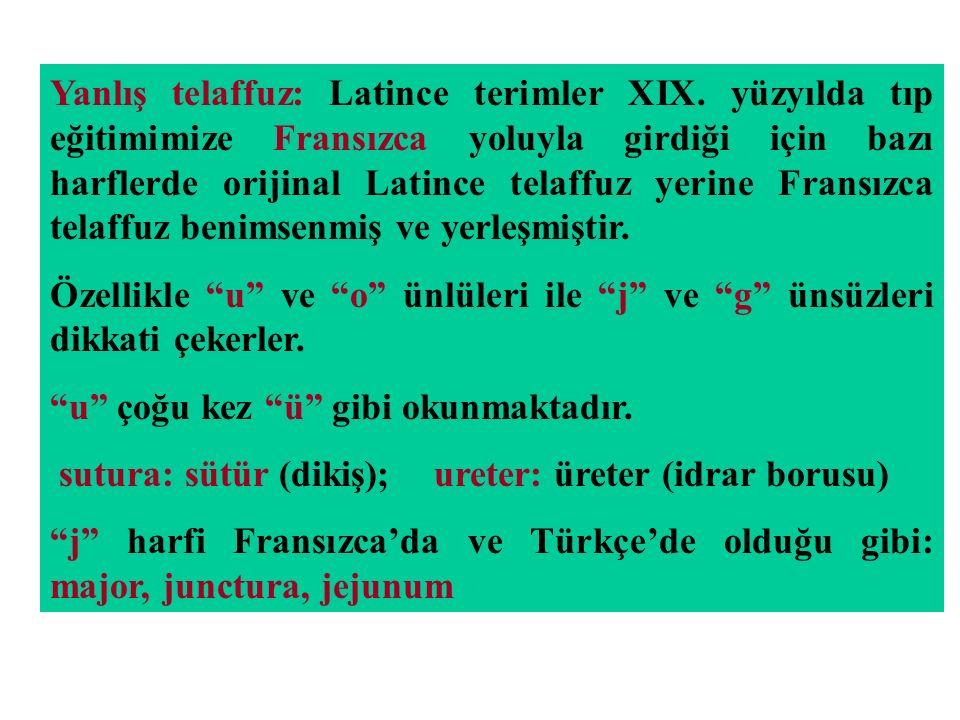 Yanlış telaffuz: Latince terimler XIX