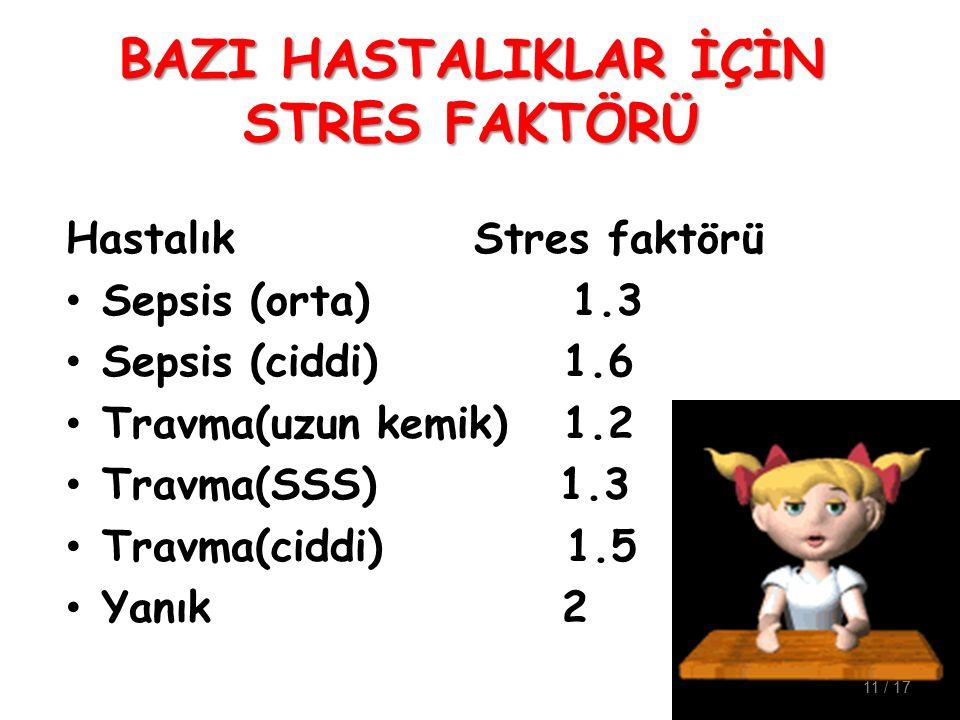 BAZI HASTALIKLAR İÇİN STRES FAKTÖRÜ